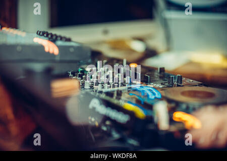 Close-up Of Sound Recording Equipment - Stock Photo