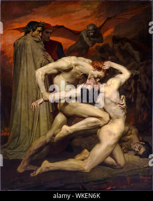 William-Adolphe Bouguereau, painting, Dante and Virgil, in Hell, 1850 - Stock Photo
