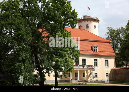 18th.Century Manor House and tower, formerly part of Cesis Castle, Latvia - Stock Photo
