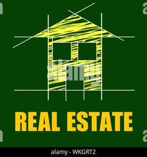 Real Estate Showing On The Market And On The Market - Stock Photo