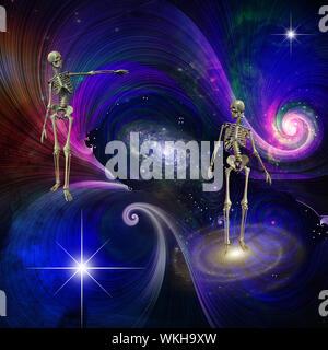 Skeletal Figures in Cosmos. Ending of existence