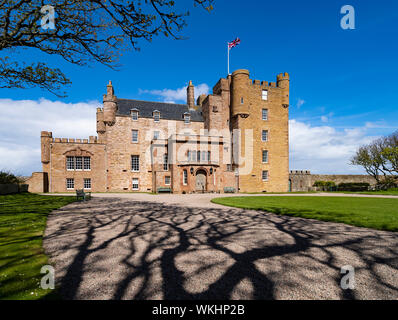 Exterior of Castle of Mey in Caithness on the North Coast 500 tourist motoring route in northern Scotland, UK