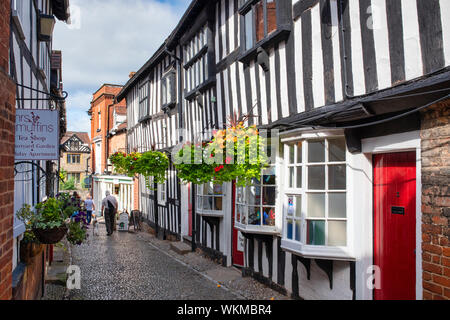 Ledbury town council offices. Timber framed period buildings along church lane, Ledbury Herefordshire. England - Stock Photo