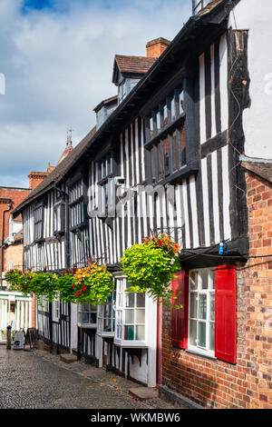 Ledbury town council offices. Timber framed period buildings along church lane, Ledbury Herefordshire. England - Stock Photo