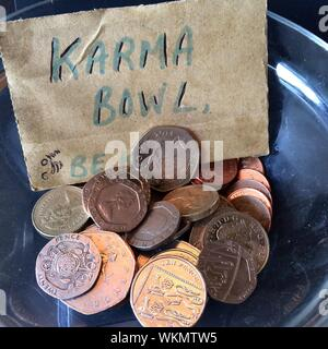 Pence Coin Elizabeth Ii - Stock Photo