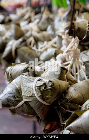 Chinese Rice Dumplings in market - Stock Photo
