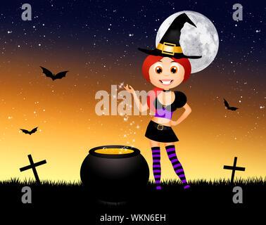 Halloween witch - Stock Photo