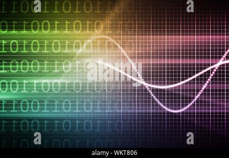 Purple Technology Forecast in Sales and Data - Stock Photo