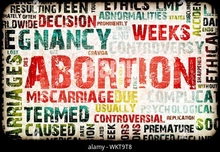 Abortion of Pregnancy Danger Background as a Art - Stock Photo
