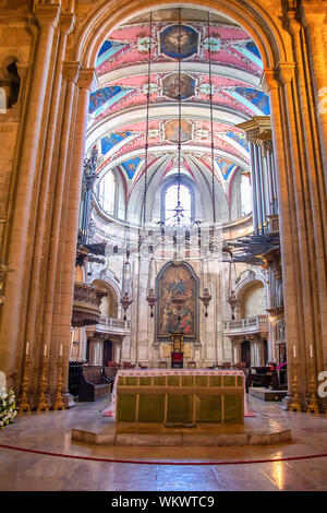 Lisbon, Portugal - July 15,2019: Main Altar of Se Patriarcal Cathedral in Lisbon, Portugal - Stock Photo
