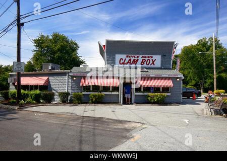 Clam Box of Ipswich, 246 High Street, Ipswich, MA - Stock Photo