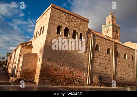 Koutoubia Mosque near Jemaa El Fna in Marrakesh, Morocco - Stock Photo