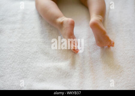 Low Section Of Baby's Legs - Stock Photo