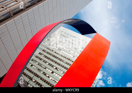 Sweden Stockholm - art and office highrises at hotorget in the city - Stock Photo