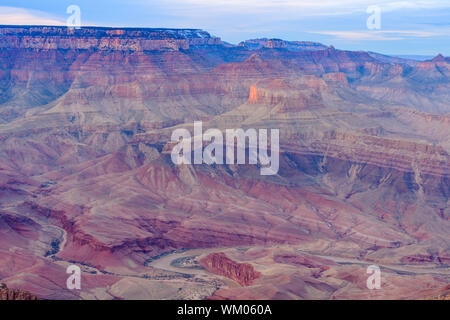 Evening light in the Grand Canyon from Lipan Point, Grand Canyon National Park, Arizona, USA - Stock Photo
