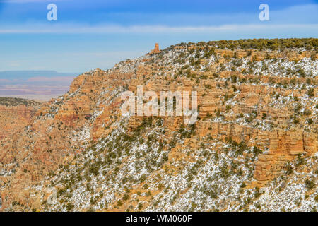 Views from Lipan Point, Grand Canyon National Park, Arizona, USA - Stock Photo