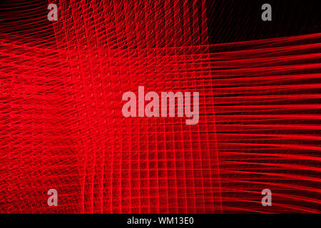 abstract lines background in red toned - Stock Photo