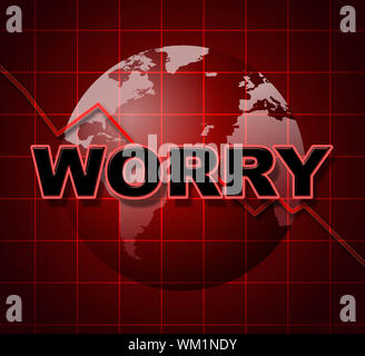 Worry Graph Meaning Graphics Apprehensiveness And Concern - Stock Photo
