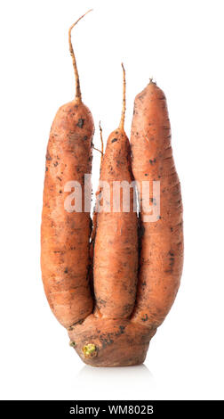 Figured carrot isolated on a white background - Stock Photo