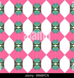 seamless repeatable pattern texture with hot pink, blue chill and pale golden rod colors. - Stock Photo
