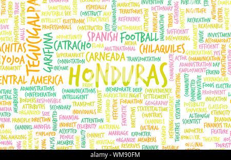 Honduras as a Country Abstract Art Concept - Stock Photo