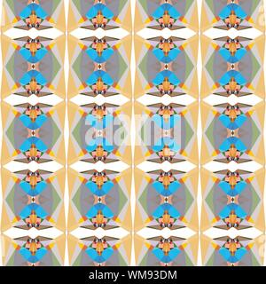 seamless repeating pattern light with tan, light sea green and rosy brown colors. - Stock Photo