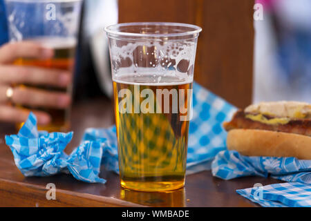 german, oktoberfest 2019, libbey, victoria, german beer, craft beer, stein, dine, pub, munich - Stock Photo