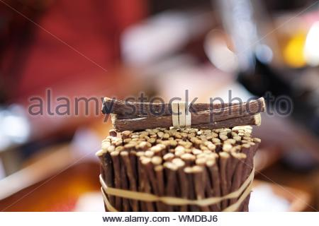 Close-up Of Licorice Root At Market For Sale - Stock Photo