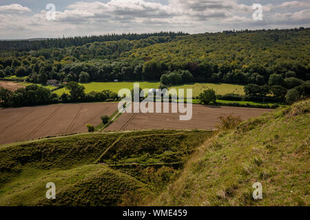 Cley Hill Iron Age hill fort near Warminster, Wiltshire, UK - Stock Photo