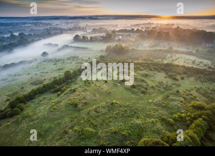 A 26 ha area of rural Lindfield in West Sussex known as Scamp's Hill that is set to be developed by Wates. 200 houses and a school are planned. In a c - Stock Photo