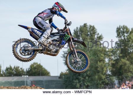 romain febvre, imola, motocross mxgp, gran premio d'italia, imola bologna 17-08-2019 - Stock Photo