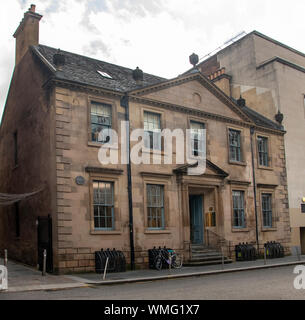 Glasgow, Scotland, UK. 20th August 2019: The Tobacco Merchant's House, which is an 18th-century villa in Glasgow. - Stock Photo