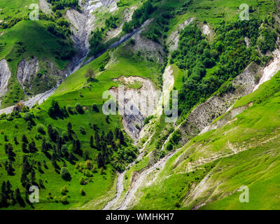 High Angle View Of River Amidst Trees Against Sky - Stock Photo