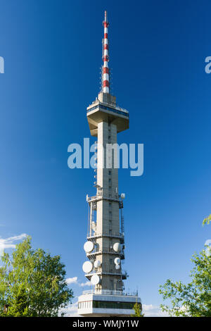 Television tower on a Kopitoto hill in Vitosha mountain near Sofia, Bulgaria. - Stock Photo