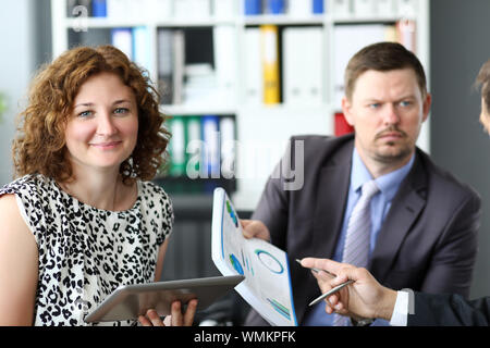 Biz negotiations with partners - Stock Photo