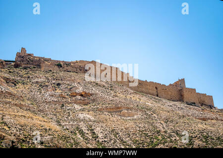 Stone arches found in the ancient Crusaders castle at Kerak, on the Kings Higway in Jordan. - Stock Photo