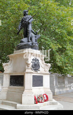The Royal Marines monument at the Mall, London, UK - Stock Photo