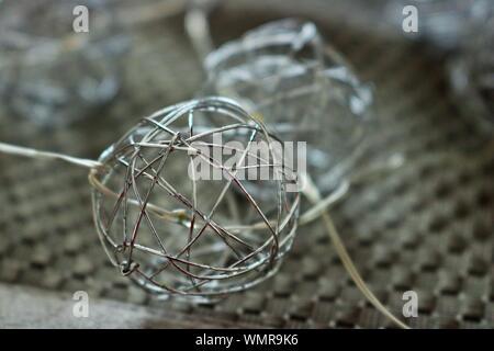 Close-up Of Metallic Balls - Stock Photo