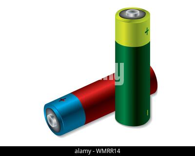 Two batteries - Stock Photo