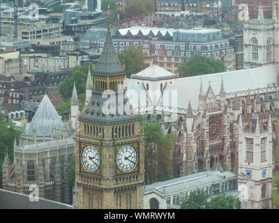 High Angle View Of Big Ben In City