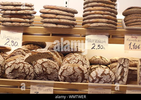 Bread For Sale At Bakery - Stock Photo