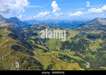 Sant Stephan, SWITZERLAND - JUNE 2017 - Tourist paradise at top of  a Mount Pilatus near Sant Stephan - Stock Photo