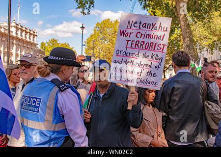 Palestinian Demonstration in London, England - Stock Photo