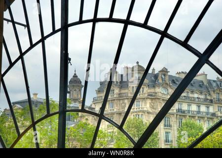 Paris, Marais, Blick aus dem Fenster des Pavillon d'Arsenal - Stock Photo