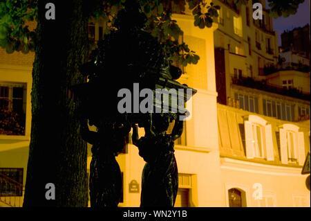 Paris, Montmartre, Wallace-Brunnen - Stock Photo