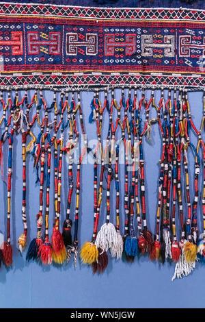 Traditional Azerbaijani carpet, Azerbaijan National Carpet Museum, Baku, Azerbaijan - Stock Photo