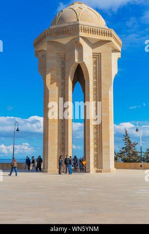 Martyrs Lane, Alley of Martyrs, Shehidler Khiyabani, Baku, Azerbaijan - Stock Photo