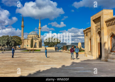 Sahidlar Xiyabani Mosque, Mosque of the Martyrs, Shahids Mosque, Baku, Azerbaijan - Stock Photo