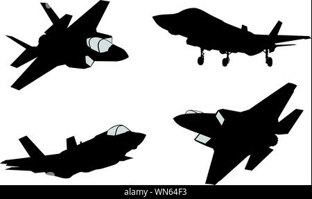 Vector fighters set - Stock Photo