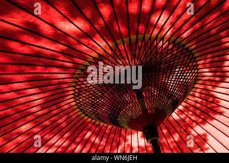 Close Up Of Red Umbrella - Stock Photo